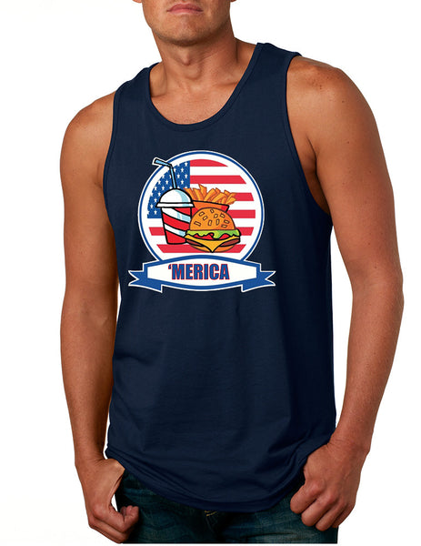 Men's Tank Top Fast Food 'merica Love America USA Top