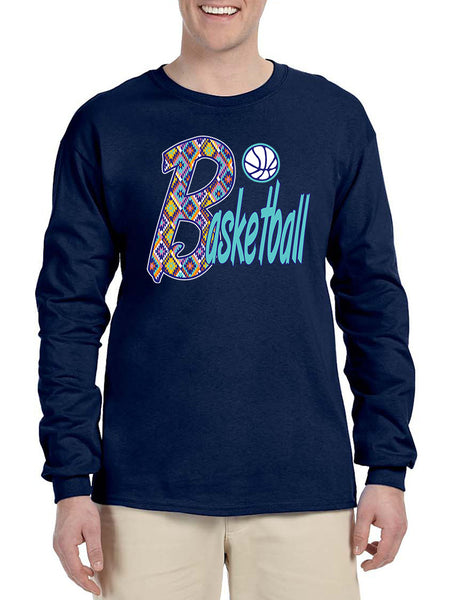 Men's Long Sleeve Basketball Aztec Love Sport Gym Fitness Tee