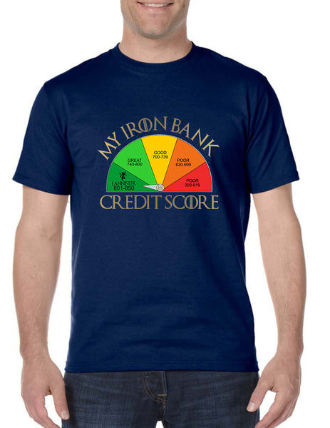 Men's T Shirt My Iron Bank Credit Score Lannister Tee