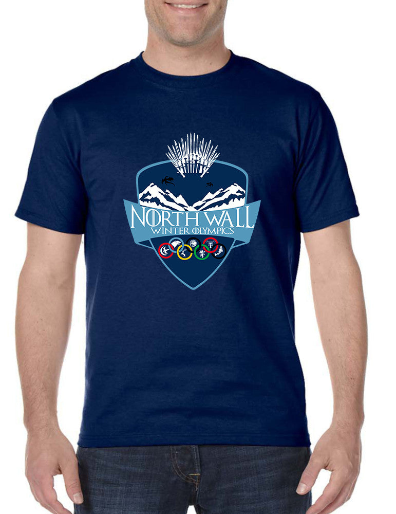 Men's T Shirt North Wall Winter Olympics Cool Tshirt