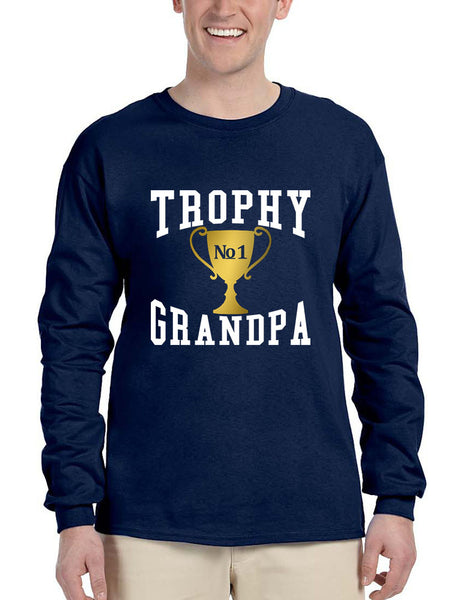 Men's Long Sleeve Trophy Grandpa Cool Xmas Love Family Gift Top - ALLNTRENDSHOP - 4