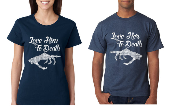 Love her Love him to death Couple shirts Valentines day - ALLNTRENDSHOP - 4
