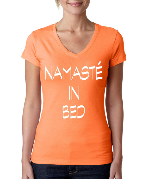 Namaste in bed Women's Sporty V Shirt - ALLNTRENDSHOP - 3