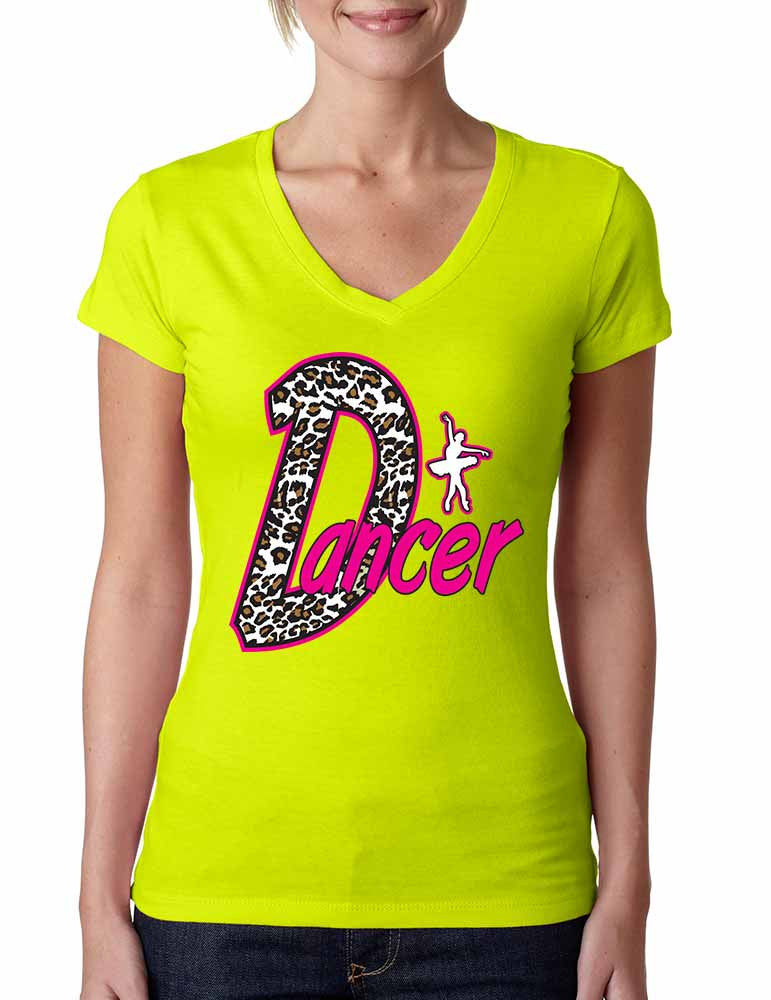 Dancer White Leopard women's sporty V - ALLNTRENDSHOP
