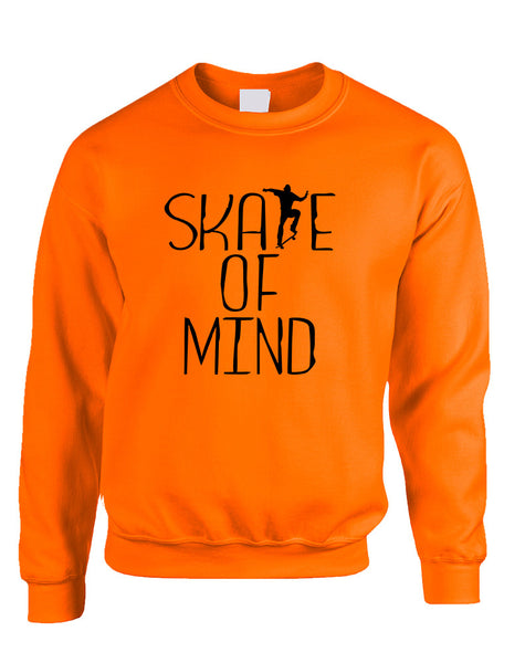 Adult Sweatshirt Skate Of Mind Love Skating Is Life Cool Top