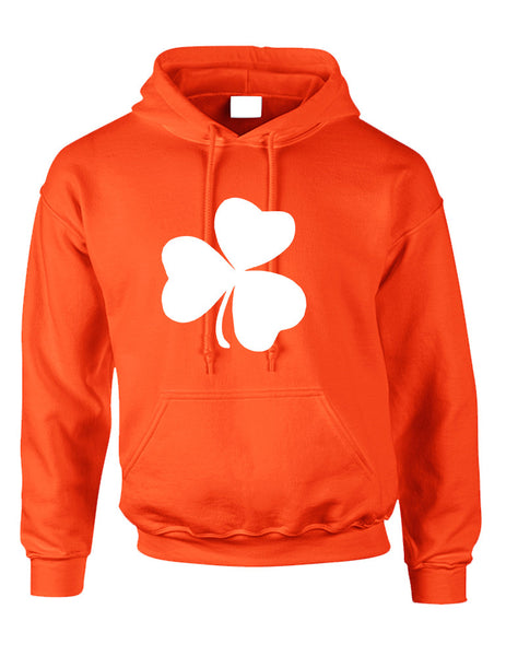 Adult Hoodie White Shamrock Graphic St Patrick's Day Cool Party - ALLNTRENDSHOP - 3