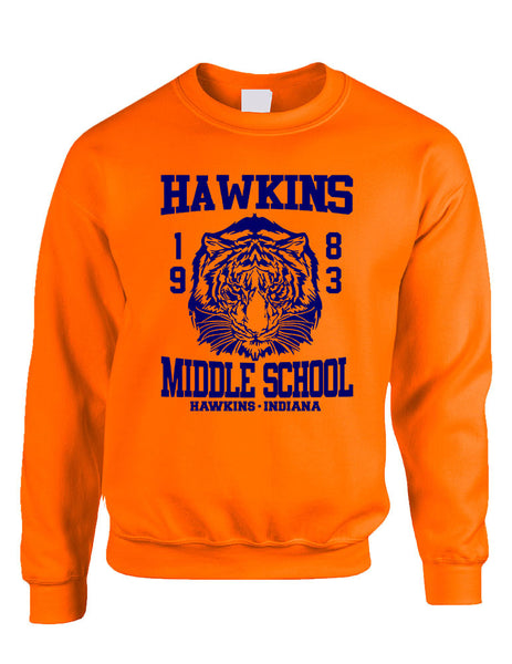 Adult Crewneck Sweatshirt Hawkins Middle School 1983 - ALLNTRENDSHOP - 4