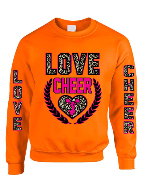 Love Cheer Leopard womens Sweatshirts - ALLNTRENDSHOP - 1