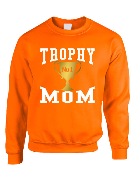 Adult Sweatshirt Trophy Mom Gift Love Mother's Day Sweatshirt - ALLNTRENDSHOP - 5