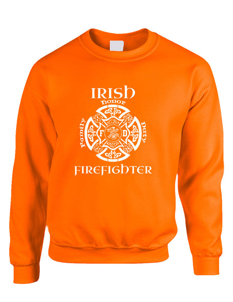 Adult Sweatshirt Irish Firefighter St Patrick's Top Irish Party - ALLNTRENDSHOP - 3