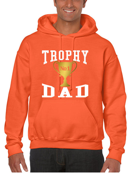 Men's Hoodie Trophy Dad Love Father Shirt Daddy Cool Gift - ALLNTRENDSHOP - 3