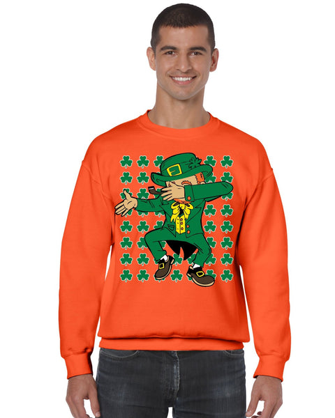 Dabbing Irish Leprechaun St patrick men sweatshirt - ALLNTRENDSHOP