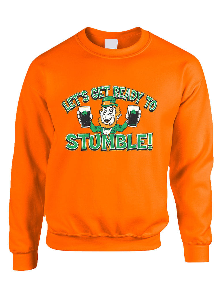 let`s get ready to stumble St patrick women sweatshirt - ALLNTRENDSHOP - 1
