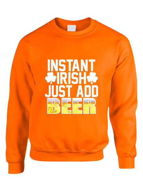 Adult Sweatshirt Instant Irish Add Beer St Patrick's Outfit - ALLNTRENDSHOP - 3