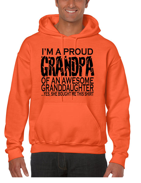 Men's Hoodie I'm A Proud Grandpa Granddaughter Funny Love Gift