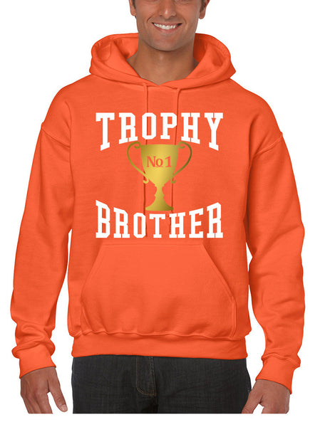 Men's Hoodie Trophy Brother Love Family Gift Cool Graphic Top - ALLNTRENDSHOP - 3