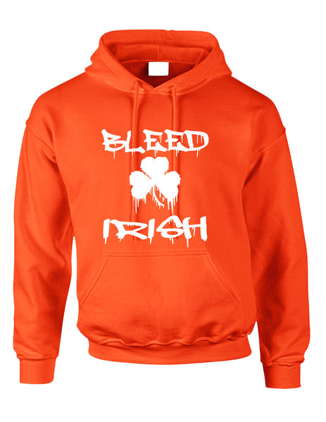 Adult Hoodie Bleed Irish St Patrick's Day Party Love Irish - ALLNTRENDSHOP - 2