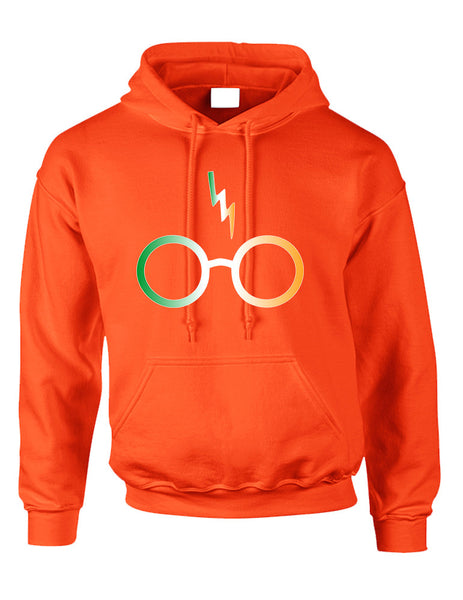 Adult Hoodie Irish Harry Glasses Scar St Patrick's Top