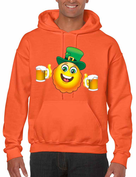 Irish smiling Emoji ST patricks men hooded sweatshirt - ALLNTRENDSHOP - 4