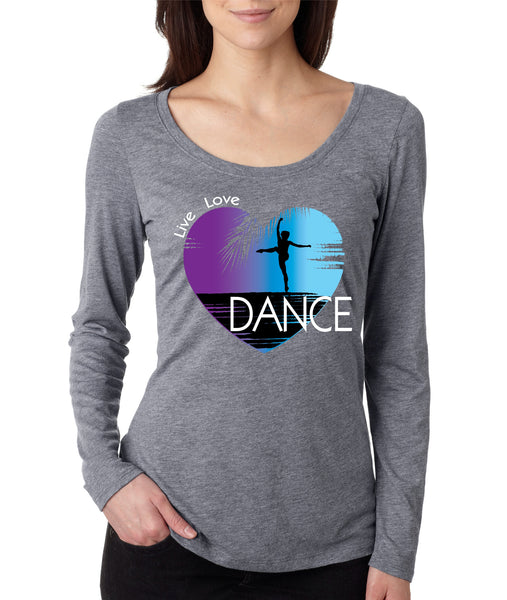 Women's Shirt Dance Art Purple Print Love Cute Gift Nice Top - ALLNTRENDSHOP - 2