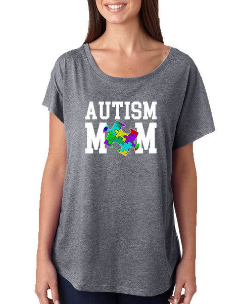 Women's Dolman Shirt Autism Mom Autistic Awareness Top