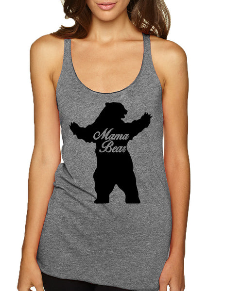 Women's Tank Top Mama Bear Family Top Mother Holiday Gift - ALLNTRENDSHOP - 3