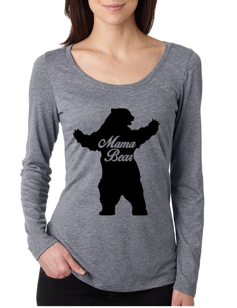 Women's Shirt Mama Bear Family Top For Mom Xmas Cute Top - ALLNTRENDSHOP - 3