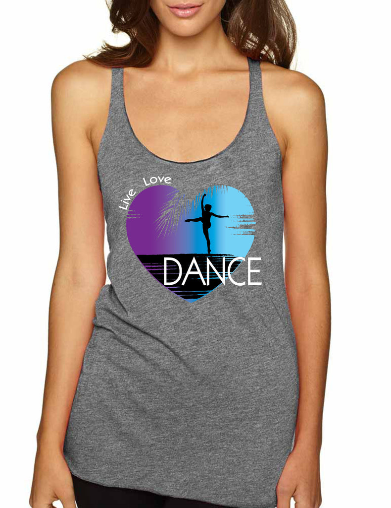 Women's Tank Top Dance Art Purple Print Love Cute Top Nice Gift - ALLNTRENDSHOP - 1