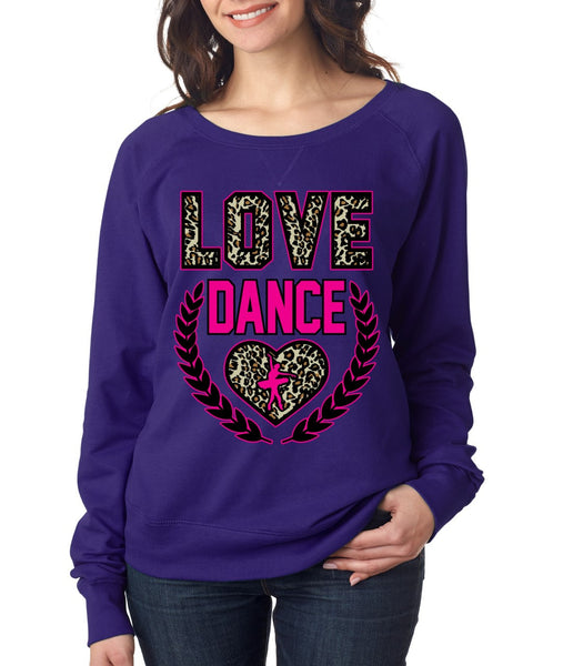Love Dance Leopard Womens long sleeve Pullover - ALLNTRENDSHOP - 4