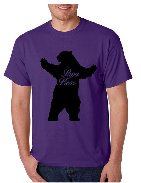 Men's T Shirt Papa Bear Family Shirt For Dad Xmas Cute Gift - ALLNTRENDSHOP - 6