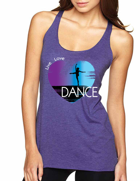 Women's Tank Top Dance Art Purple Print Love Cute Top Nice Gift - ALLNTRENDSHOP - 2