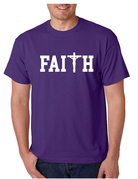 Men's T Shirt Faith Print Cross Love Christian T Shirt