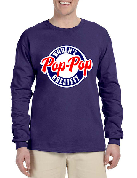 Men's Long Sleeve World's Greatest Pop Pop Love Family Top