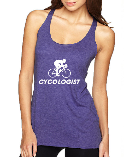 Women's Tank Top Cycologist Love Sport Cool Cycling Top