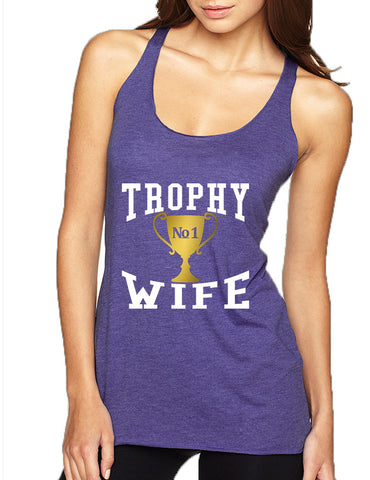 Women's Tank Top Trophy Wife Cool Xmas Love Holiday Gift - ALLNTRENDSHOP - 1