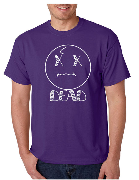 Men's T Shirt Dead Face Cool Funny Humor Shirt