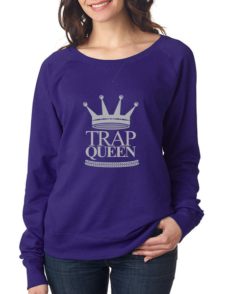Trap Queen long sleeve Pullover women - ALLNTRENDSHOP - 5