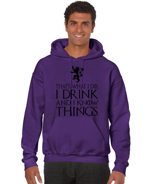 That What I Do I Drink And I Know Things men Hoodie - ALLNTRENDSHOP - 4