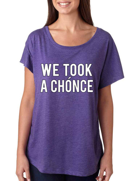 Niall Horan We took a chonce Women's Tri-Blend Dolman - ALLNTRENDSHOP - 4