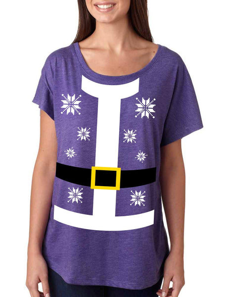Santa suit Women's Tri-Blend Dolman shirt - ALLNTRENDSHOP - 4