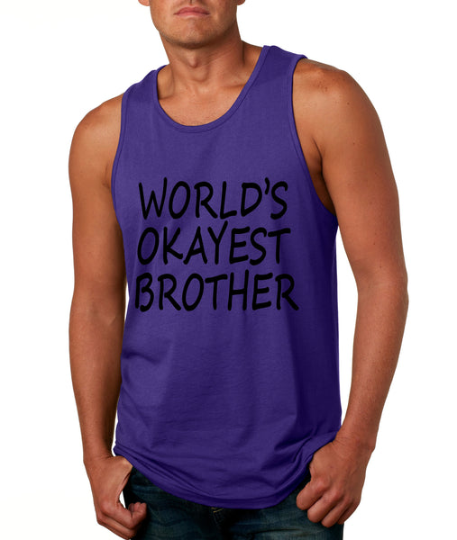 World's OKayest brother men jersey tank top - ALLNTRENDSHOP - 4