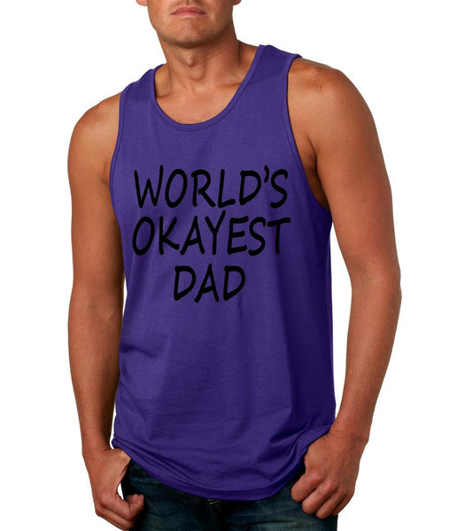 World's OKayest dad fathers day men jersey tank top - ALLNTRENDSHOP - 1