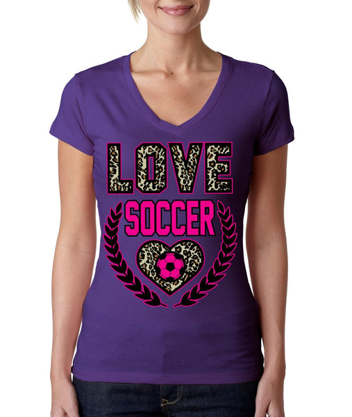 Love Soccer Leopard Womens Sporty V - ALLNTRENDSHOP - 3
