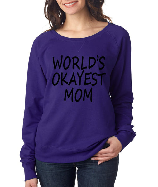 World's OKayest mom mothers day Women's Long Sleeve Shirt - ALLNTRENDSHOP - 3