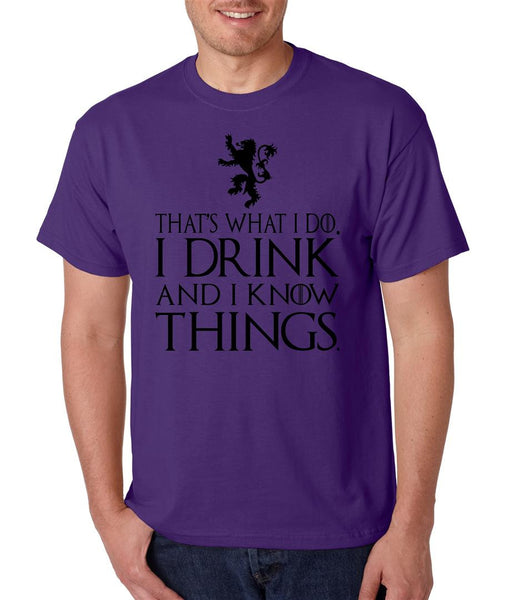 That What I Do I Drink And I Know Things mens t-shirt - ALLNTRENDSHOP - 4