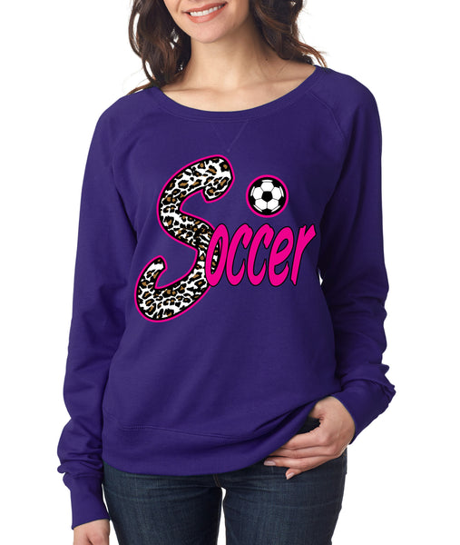 Soccer White Leopard women's long sleeve pullover - ALLNTRENDSHOP - 3