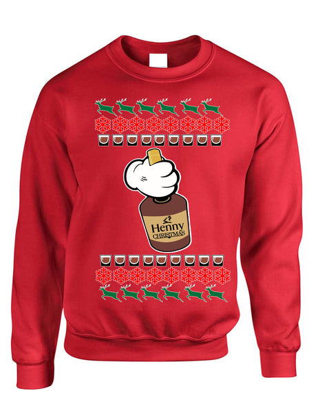 Adult Sweatshirt Henny Christmas Ugly Xmas Sweater Cozy Cute Gift