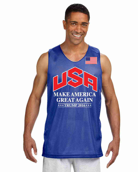 Men's Olympic Mesh Tank TRUMP 2016 Great Again Shirt - ALLNTRENDSHOP - 3