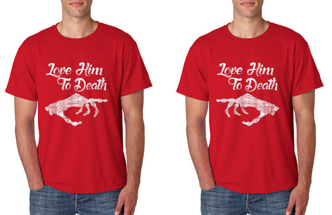 Love him to death Couple Tanktops Valentines day - ALLNTRENDSHOP - 1