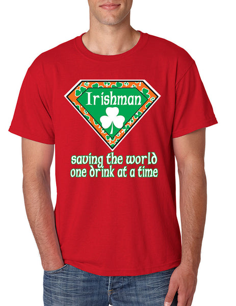 Irishman saving the world st patricks men t-shirt - ALLNTRENDSHOP - 5